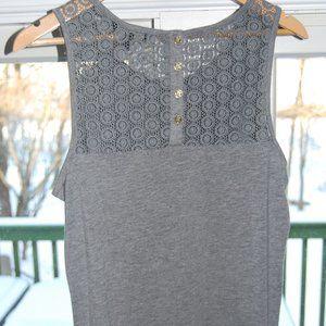Banana Republic crochet lace back tank